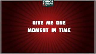 One Moment In Time - Whitney Houston tribute - Lyrics
