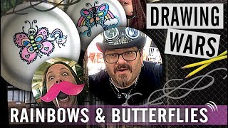 How to Draw Butterflies - Drawing in the Dark - Drawing Wars - Episode 4