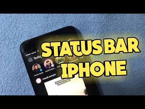 Cara Mengubah Status Bar Seperti Iphone Sinyal Di Kiri Jam Di Tengah Tutorial Android Youtube