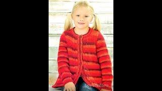 Кардиган для Девочки, Связанный Спицами 2018 / Cardigan for Girl Knitted Needles / Strickjacke