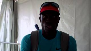 Lopez Lomong after 2013 Bowerman mile at 2013 Prefontaine Classic