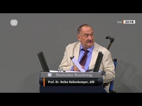 """Bundestag. """"Wir haben eine katastrophale Bildungspolitik""""Prof. Dr. Heiko Heßenkemper, AfD 24.10.2019"""