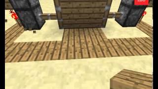 Acayip BASİT pistonlu otomatik kapı yapımı -Minecraft