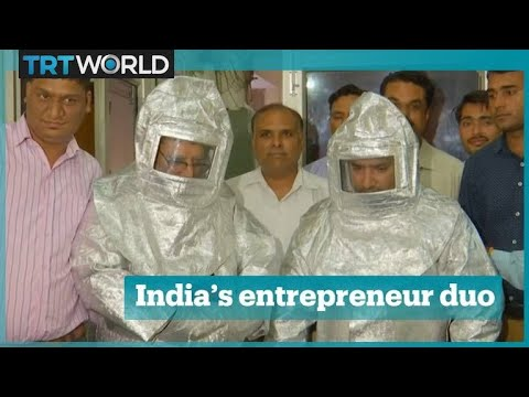 Indian father-son duo used spacesuits to con money out of a New Delhi businessman