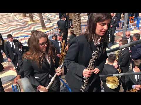 La Unión Musical La Artística actúa en la Explanada de Alicante con motivo del 90 aniversario de la