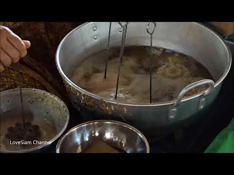 Crispy Lotus Blossom Cookie Thai Traditional Food Youtube