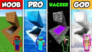 Minecraft NOOB vs PRO vs HACKER vs GOD : SECRET BASE in Minecraft Animation!