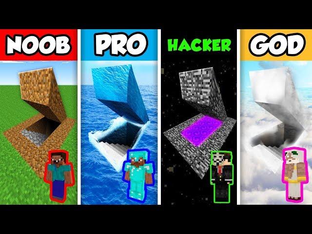 Minecraft NOOB vs PRO vs HACKER vs GOD : SECRET BASE in Minecraft Animation!