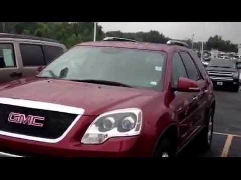 2007 gmc acadia slt 4x4 in red for sale marshall ford in o 39 fallon mo youtube. Black Bedroom Furniture Sets. Home Design Ideas