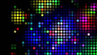 4K UHD Disco Coloful Circles