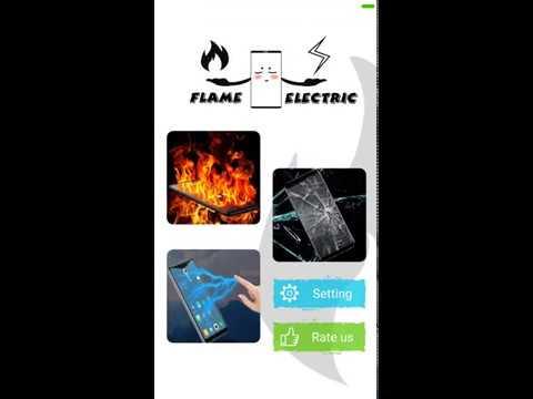 Fire electric screen prank 1