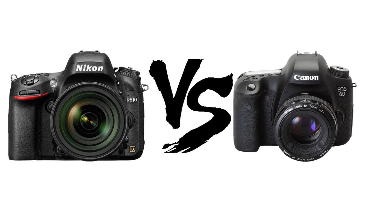 разделю фотоаппарат кэнон или никон сравнить это