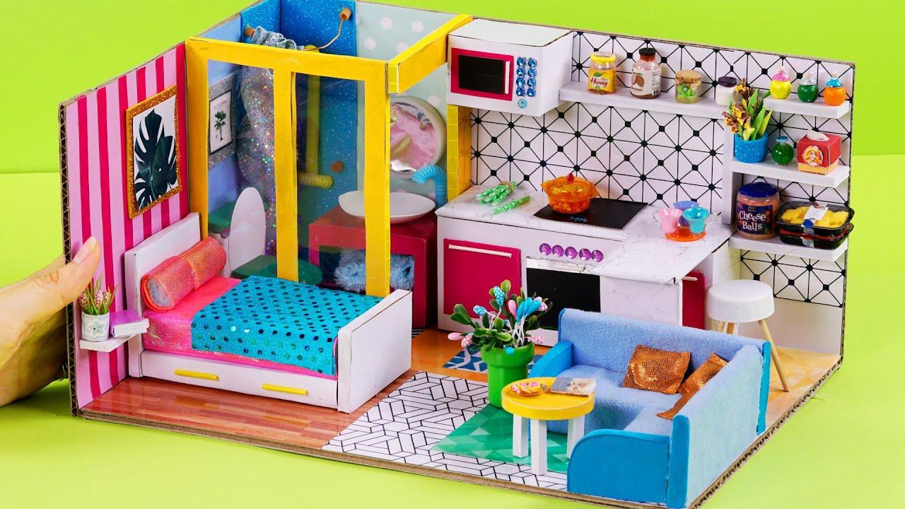 HOW TO MAKE ❤️ DIY MINIATURE HOUSE ❤️ CARTON COVER (CARDBOARD) 판지 덮개에서 DIY 소형을 만드는 방법 ? #20