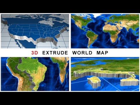 Videohive 3d extrude world map youtube videohive 3d extrude world map gumiabroncs Images