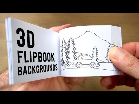 How to make 3D FLIPBOOK BACKGROUNDS (Parallax Effect)