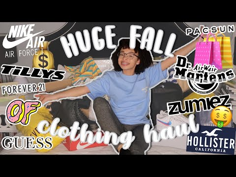 My HUGE Fall Clothing Haul! *i have a shopping problem* | aliyah simone