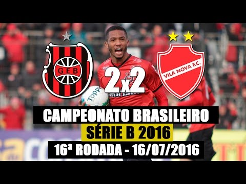 G.E.Brasil 2X2 Vila Nova - 16/07/2016  - Campeonato Brasileiro Série B