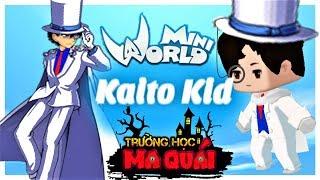 TRƯỜNG HỌC MA QUÁI: -tập 19- 1 ngày làm Kaito kid | thử thách trở thành ảo thuật gia mini world