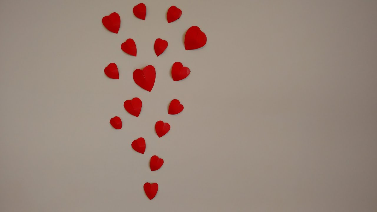 Paper craft- How to make 3D heart for wall decoration ...