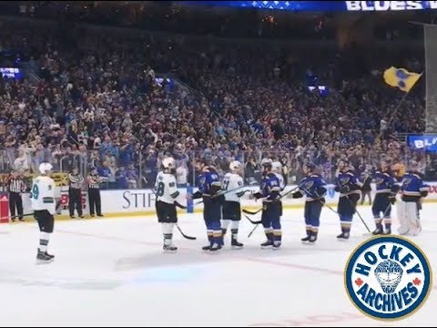 St Louis Blues – entrance, goal, celly, handshakes, trophy, Brady Tkachuk good luck – May 21, 2019