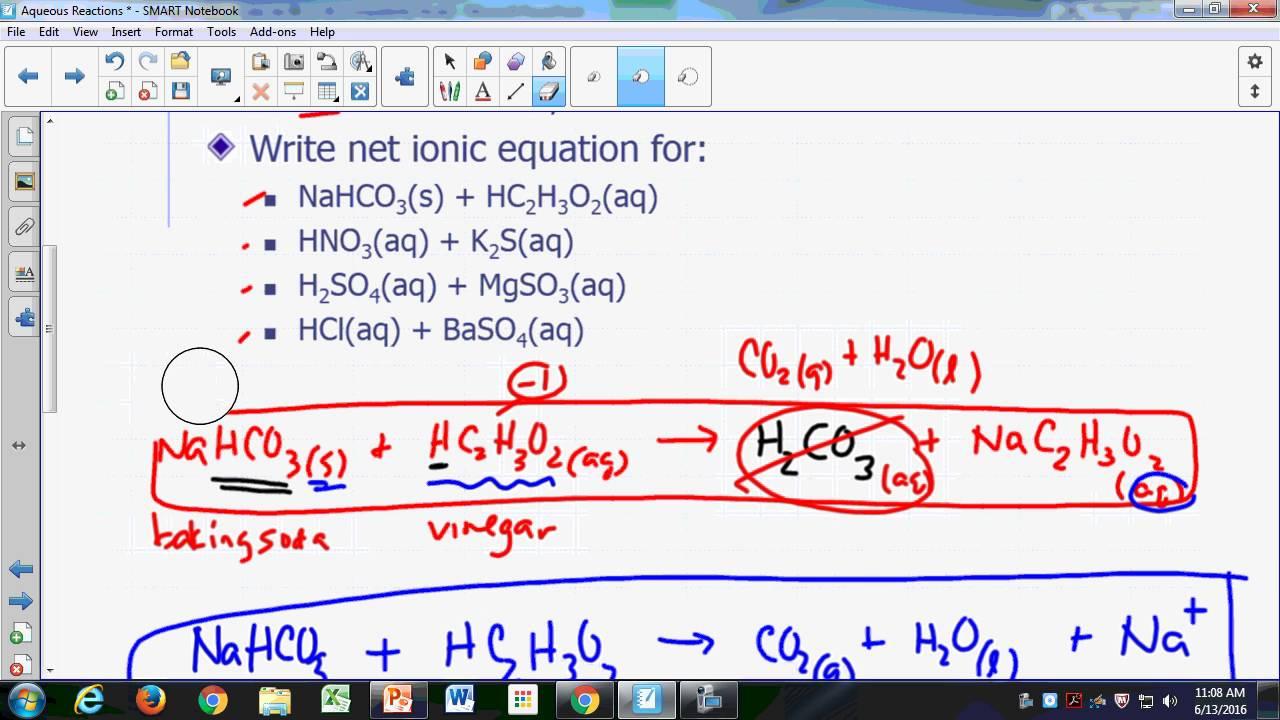 Aqueous Reactions 10 - Reactions of Acids with Salts - 10m ...