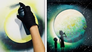 14 IDEAS DE ARTE BRILLANTES CON PINTURA EN SPRAY
