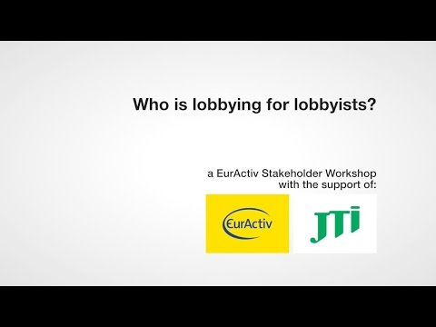 Who is lobbying for lobbyists?