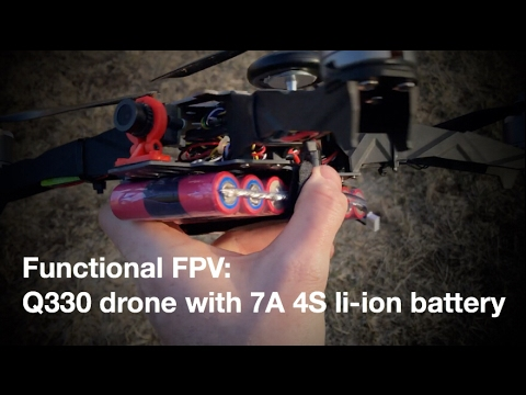 Functional FPV: Q330 drone with 7A Li-ion battery