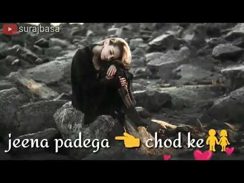 kabhi khwab me socha na tha jeena pdega tume chor k whatsapp video status with amazing font lyrics