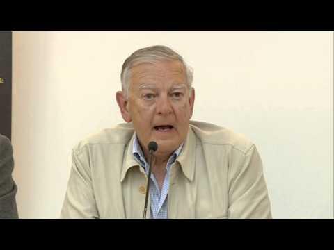 El padre de Lucy, Donald Johanson, visita el MEH y Atapuerca