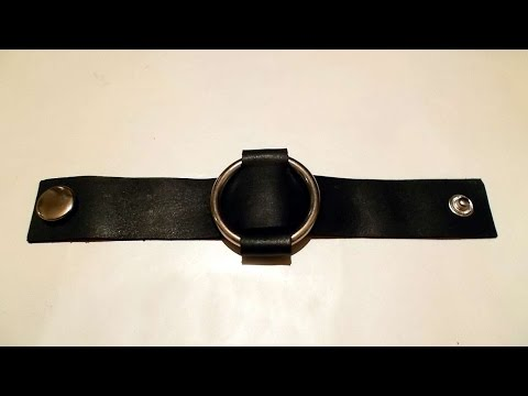 How To Make Leather Bracelet With A Metal Ring - DIY Style Tutorial - Guidecentral