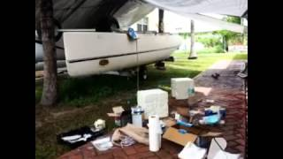 Nacra 5.7 catamaran restoration