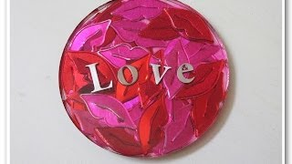 Hearts, Lips and Love Valentine's Day Coasters   Another Coaster Friday DIY