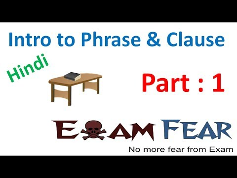 English Grammar Intro to Phrase and Clause (Hindi) Part 1: Introduction