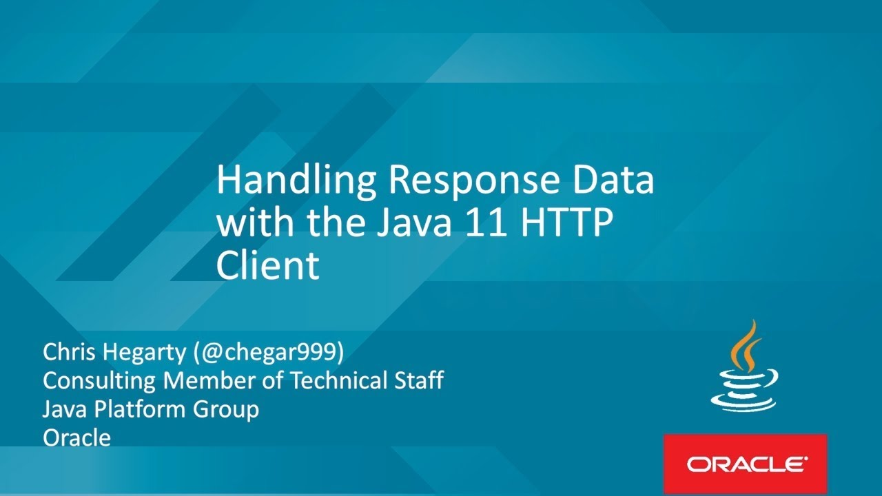 Handling Response Data with the Java 11 HTTP Client with Chris Hegarty