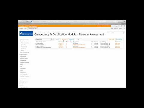 Competency management in SharePoint