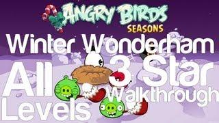 Angry Birds Seasons - Winter Wonderham All Levels 3 Star Walkthrough Levels 1-1 thru 1-25 w/ Golden Egg
