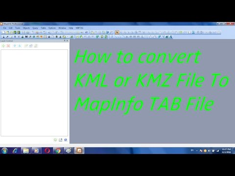 How to convert KML or KMZ File To MapInfo TAB File - YouTube