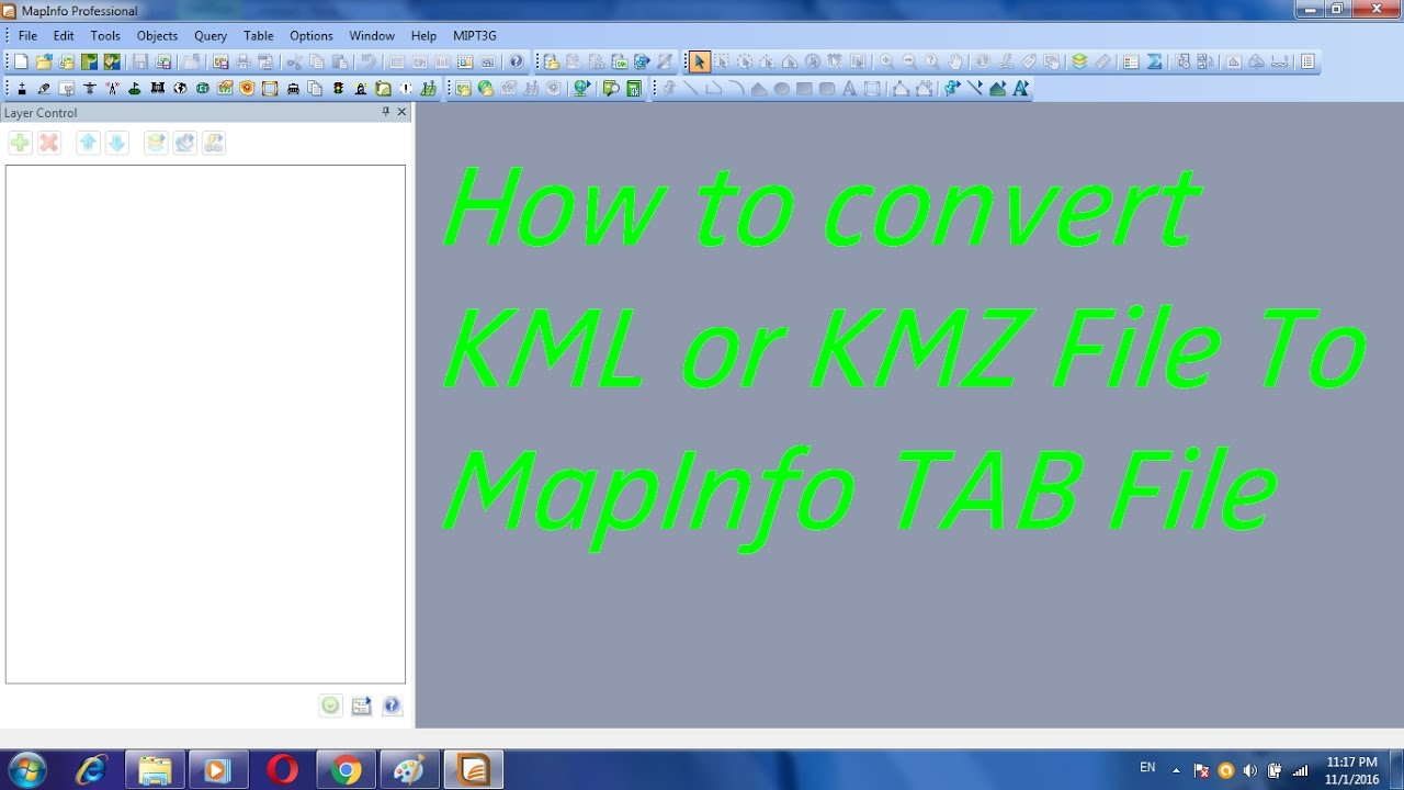 How to convert KML or KMZ File To MapInfo TAB File