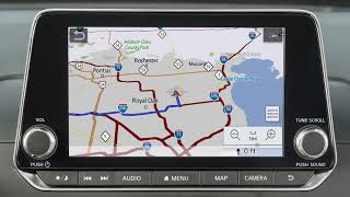 2019 Nissan Altima - Map Screen Overview (if so equipped)