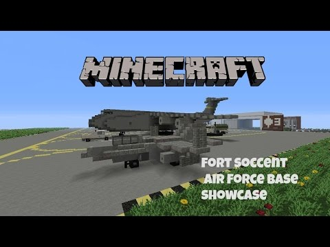 minecraft fort soccent air force base showcase