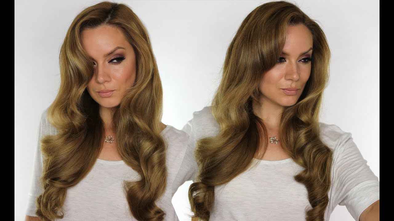 Hollywood Waves Hair Tutorial Bombay Gold Straightener