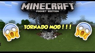 TORNADO IN MCPE...WTF?!? »Tornado Mod« Minecraft PE (Pocket Edition)