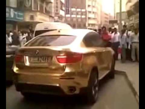 Bmw X6 En Or D Un Prince Saoudien Incroyable Youtube