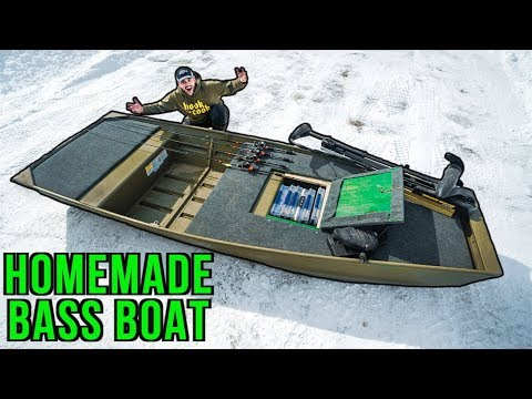 CHEAP Jon Boat To Bass Boat HOMEMADE Build!!! (How To Make)