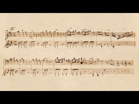Mozart Rondo K.485 with Autograph Manuscript - P. Barton, piano