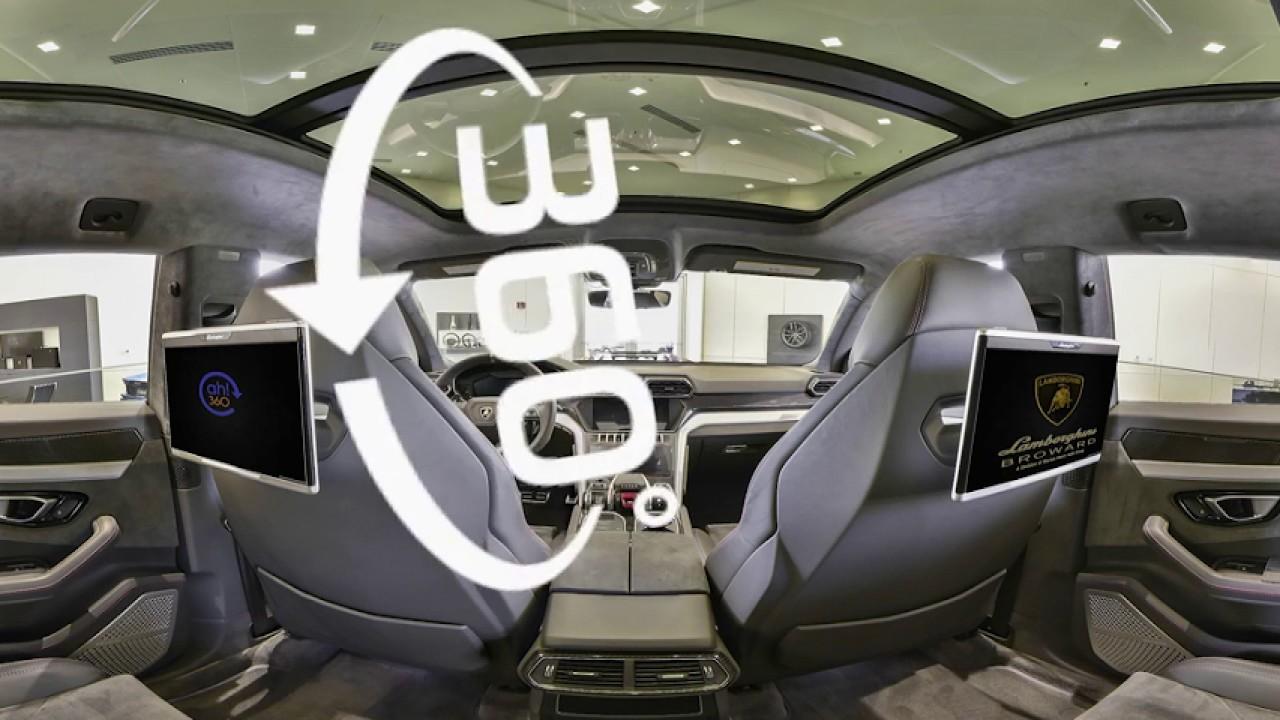 Lamborghini Urus Back Seat Interior View 360 Virtual Reality Youtube