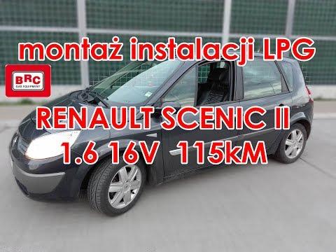 Renault Scenic II 1.6 16V 115kM montaż instalacji gazowej BRC Sequent ALBA 32 od ARG Auto Gaz Łódź