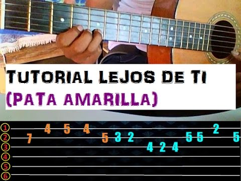 lejos de ti tutorial guitarra Pelo d´ Ambrosio