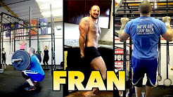 POWERLIFTER Does FRAN (Crossfit Workout) for the First Time